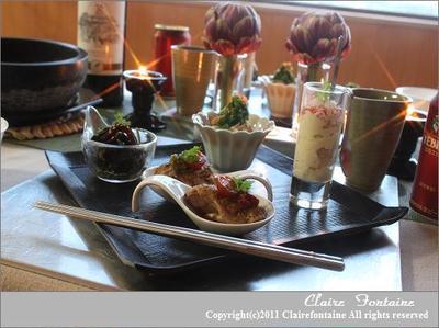 中華前菜と石焼麻婆豆腐