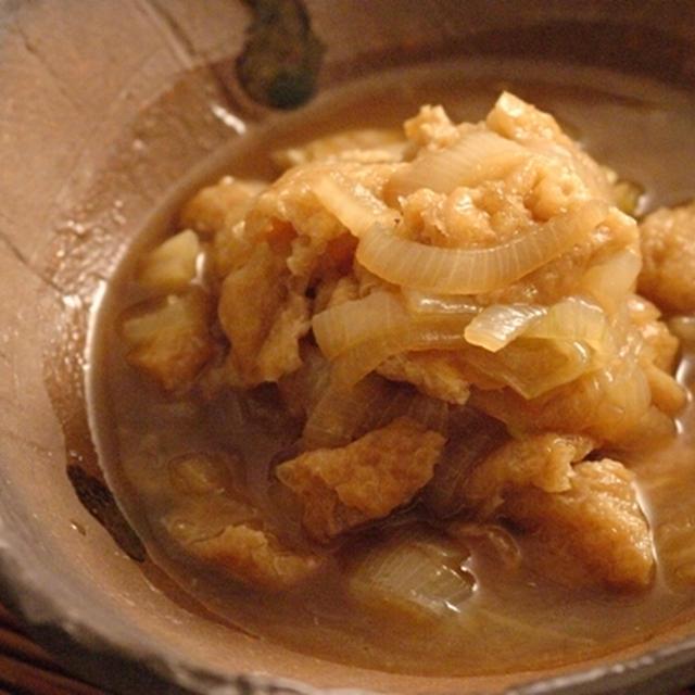 油揚げと玉ネギの生姜風味煮