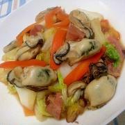 牡蠣と野菜のオイスターソース炒め