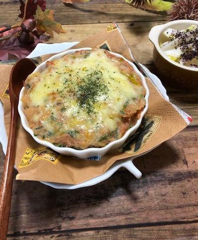 広島市矢野公民館☆男性料理教室2018.12桜えびと小松菜の♫オニオングラタン