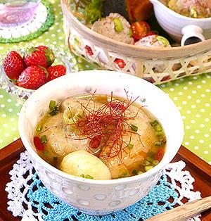 鶏手羽先とまるごとかぶのジンジャースープ☆風邪に・・