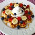 朝食にもおやつにも♡ボリュームワッフル by manaママさん