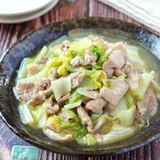 豚こまと白菜のとろ〜り旨塩炒め煮