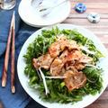 【 10分おかず 】 メインにもおつまみにも! 栄養も満点、豚肉と春菊のおかずサラダ。