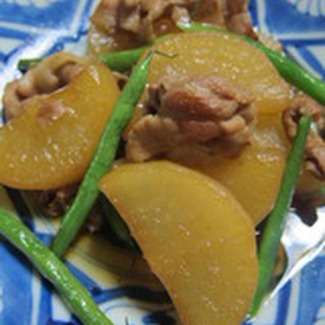 「豚肉と大根の梅酒煮」