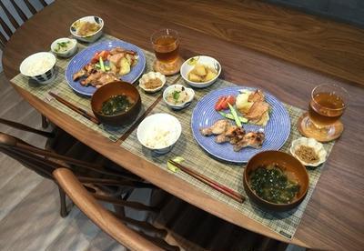久々の常備菜の晩ごはん。バタバタする朝の支度に使う化粧品をまとめたい!(願望)