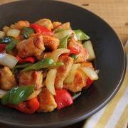 簡単!鶏むね肉とピーマンの酢豚風甘酢炒め(工程写真あり)