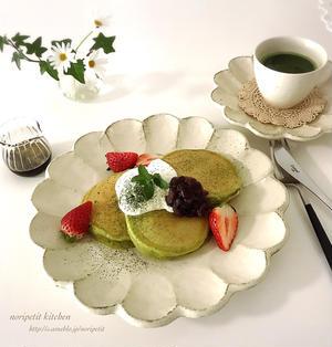 簡単♡ふわふわ♪抹茶パンケーキdeおうちカフェ♡