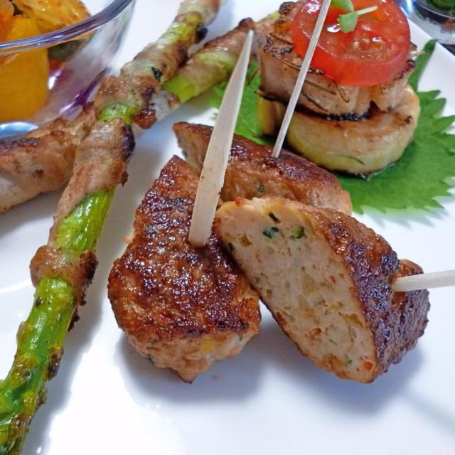 鶏ひき肉でシシカバブ