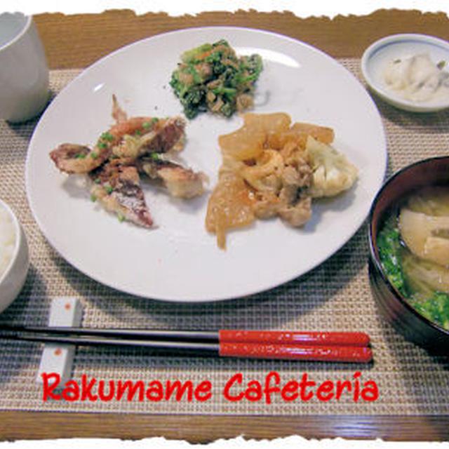 【イカゲソ&豚肉】と【大根の味噌煮込み】定食&「ショーコラ」♪