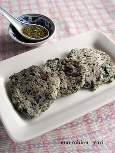 【マクロビ簡単レシピ】モロヘイヤのお焼き