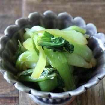 パパっとレンチン副菜!チンゲン菜の中華風おひたしのレシピ