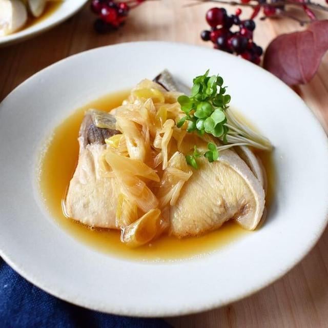 酸っぱ旨*さっぱり煮魚【ぶりのネギポン酢煮】15分/冷蔵5日/フライパン