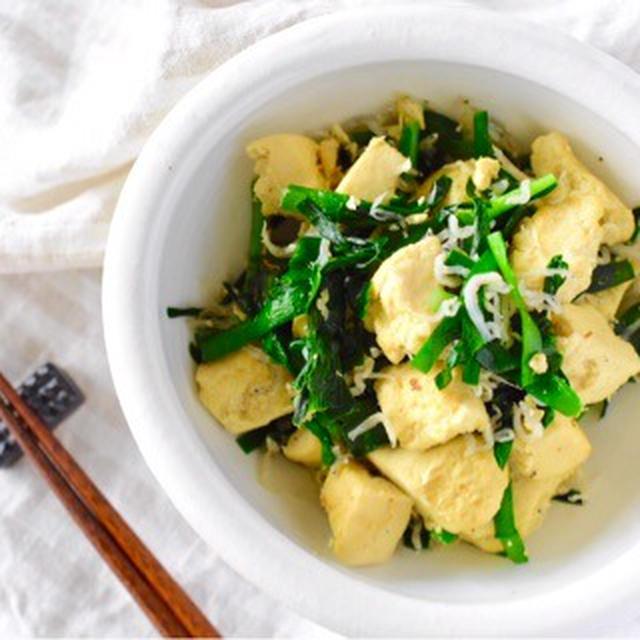 <レシピ>栄養満点!!春はニラの美味しい季節♡【ニラと高野豆腐のじゃこ炒め】