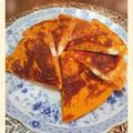 【トマトとクリチのホットケーキ】ガラムマサラで大好きカレー風味
