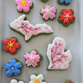 桜前線上陸☆アイシングクッキー