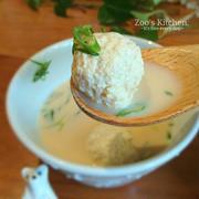 鶏団子の豆乳スープ&はちみつ生姜のあったか豆乳 レシピ