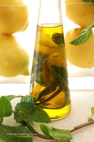 レモンミントのオリーブオイル