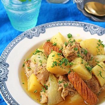 炊飯器でほったらかし!鶏肉とじゃがいものカレースープ煮