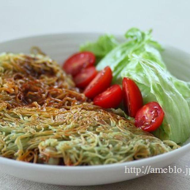 カリカリ素麺オムレツ風