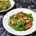 ツナとトマトとルッコラのサラダ。超簡単、あと一品に。 by akkeyさん