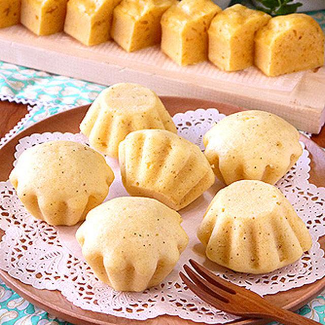 ふんわり米粉の卵チーズ蒸しパン☆ブリオッシュ型で・・