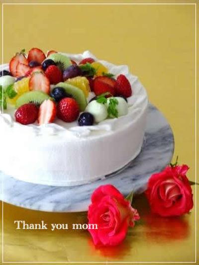 母の日に・・フルーツたっぷり☆ヨーグルトショートケーキ