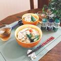 簡単サラダチキンのっけ素麺