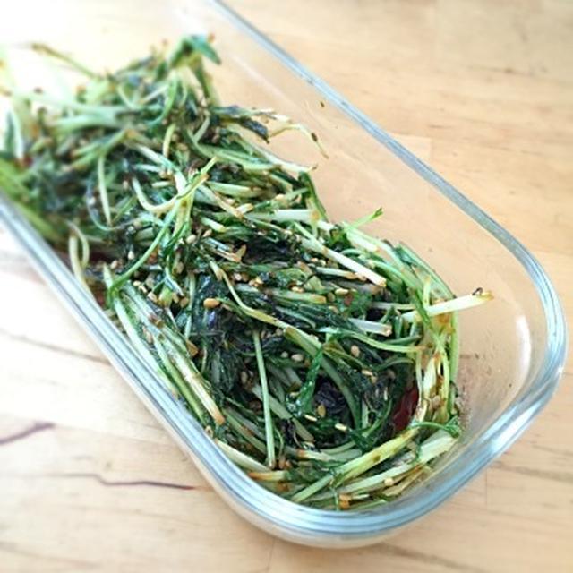 ☆水菜の醤油炒め
