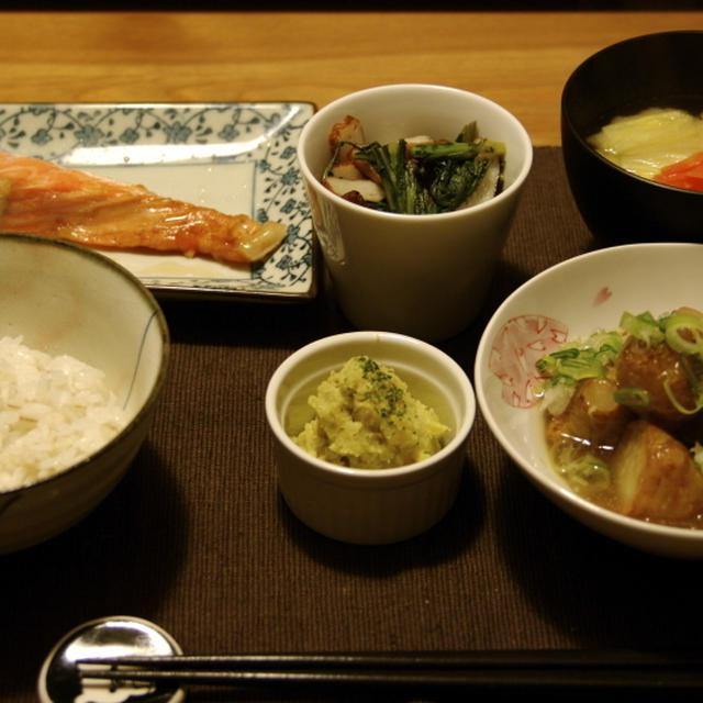 鮭の塩焼き夜ご飯