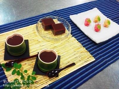 第10回和菓子教室~【清流】&【水ようかん】作りました~\(^o^)/