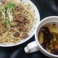 サンマの缶詰×大根×ペペロンチーニパスタ (買い置き食材で)