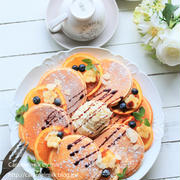 オレンジパンケーキ ザーネワンダーホイップクリーム