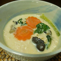 くずし豆腐と豆乳のヘルシー食べるおかずスープ♪