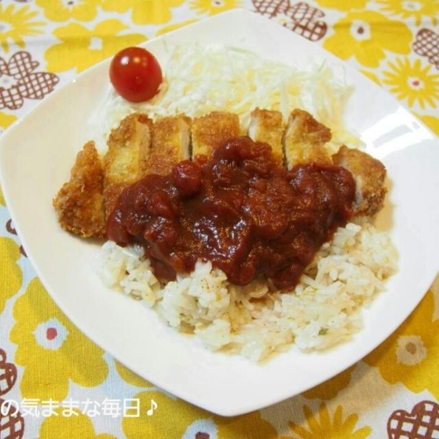 ローカルご飯☆スパジカツ風カツもやご飯と今日のお弁当