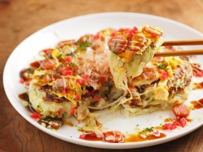 長芋とキャベツのとろとろお好み焼き 、 低糖質&ボリュームたっぷり!