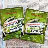 トレジョのオリーブ Trader Joe's Just a Handful of Pitted Salted Manzanilla Olives