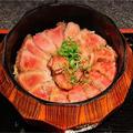 【レシピ】ローストビーフ丼!そのままつまんでもおいしいです!