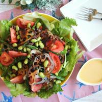 【簡単!サラダ】モリモリ食べよう♪具だくさんライスサラダ