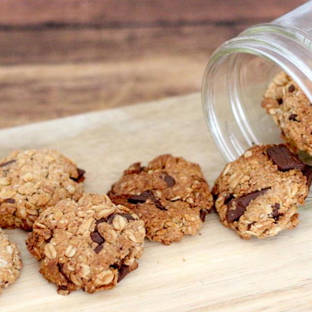 オートミール100%で作るチョコレートクッキーの作り方。