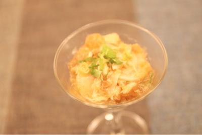 ぷぅさんへ☆焼き鮭で前菜☆鮭と大根のポン酢ジュレ