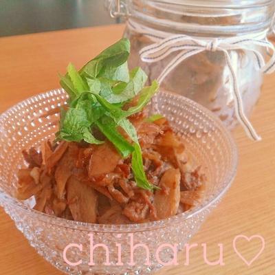 【簡単】【作り置き♡】甘辛牛ごぼうの佃煮の作り方♡