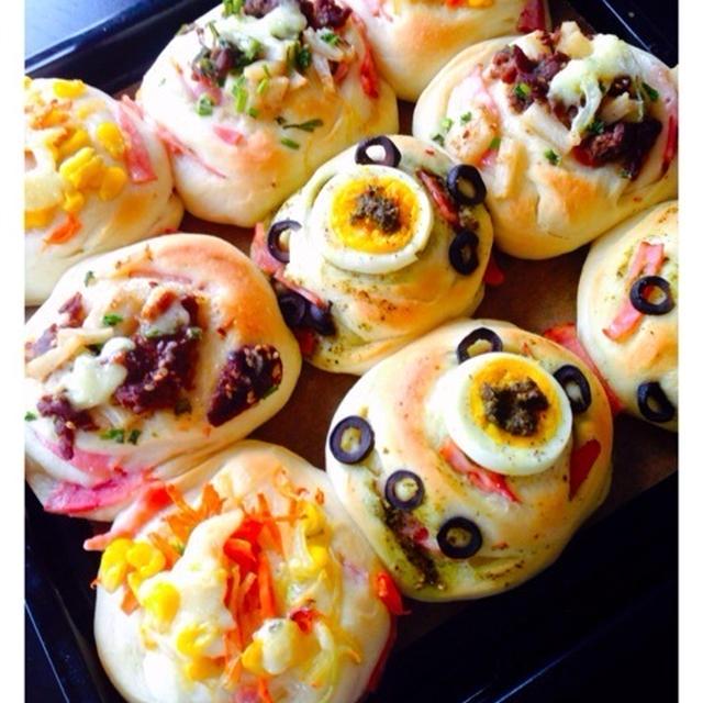 ふわっふわ〜♥ハムロールピザパン!!