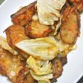 キャベツ使い切り〜の簡単おつまみおかず!さつま揚げとキャベツの旨辛炒め焼き&煮物と和え物。