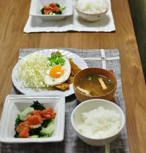 和風生姜カレー焼きとサーモンとわかめのチョレギサラダ、勉強に集中させるためには