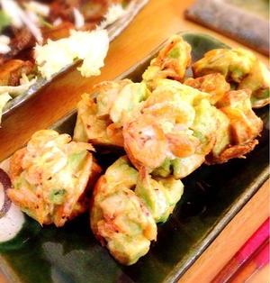 アボカドと桜海老の天ぷら