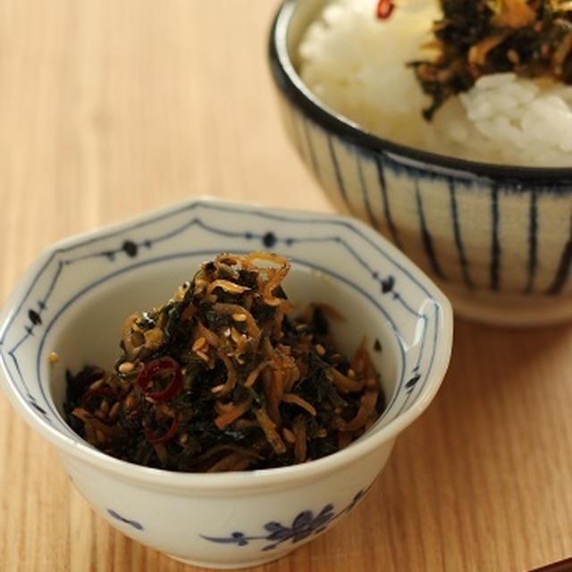 セロリの葉と針生姜の佃煮風