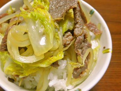 ジンギスカン丼(プチ丼)
