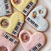 ピアノのアイシングクッキー