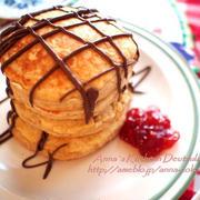 【お菓子】簡単もちもち~♡バナナパンケーキでランチ♡ホットケーキミックス不要!
